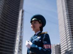 Nữ CSGT Triều Tiên